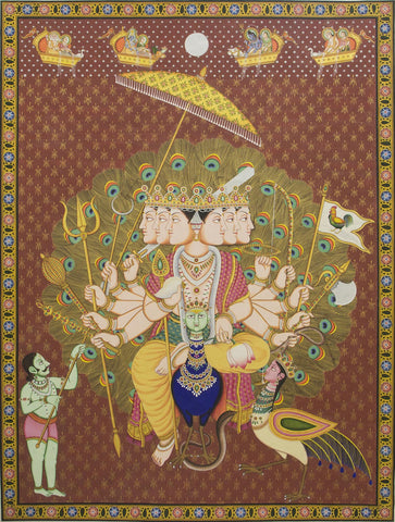 Lord Kartikeya,[product_collection],Artisera Pichwai,Arun Kumar - Artisera
