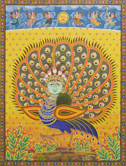 Sacred Peacock,[product_collection],Artisera Pichwai,Arun Kumar - Artisera