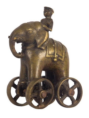 Elephant Pull Toy With Mahout