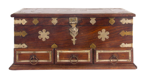 Jewellery Box with Silver Bands