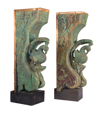 Peacock Brackets (Pair)