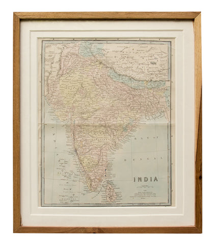 Map of India, 1870