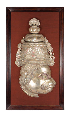Silver Hanuman with Mukut