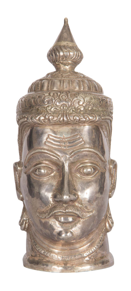 Shiva Head in Silver 1