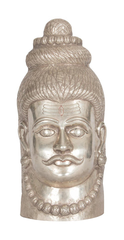 Shiva Head in Silver 2