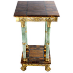 Tiger's Eye and Jade Side Table