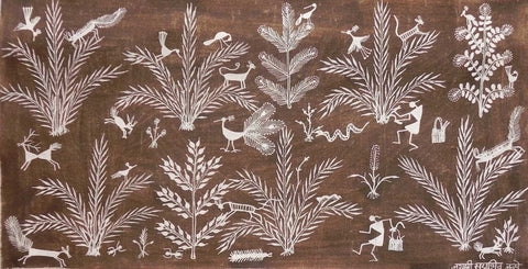 Warli - Untitled 23,[product_collection],Must Art,Jai Shree Sadashiv Mashe - Artisera