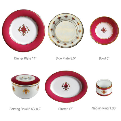 The Lotus at Fatehpur 27 Piece Dinner Set,[product_collection],Nishita Fine Dinnerware, - Artisera