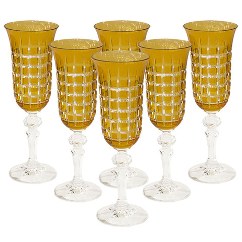 Champagne Glasses (Set of 6),Navrathan's Antique Art, - Artisera