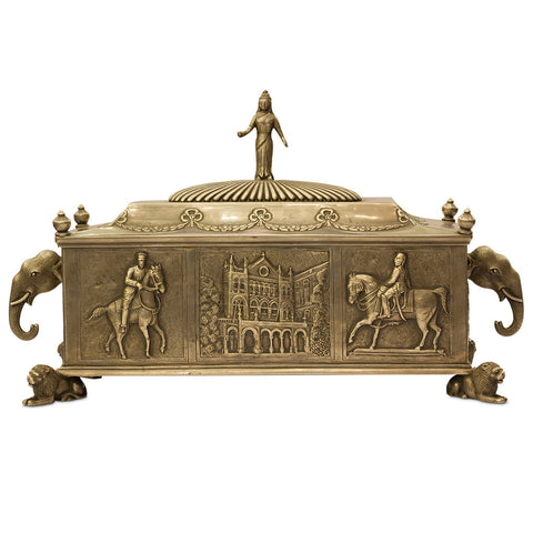 Silver Box with Lion Legs,Navrathan's Antique Art, - Artisera