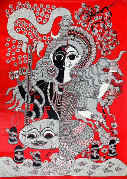 Madhubani - Untitled 08,[product_collection],Must Art,Manisha Jha - Artisera
