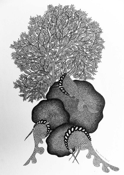 Gond - Untitled 43,[product_collection],Must Art,Mayank Shyam - Artisera