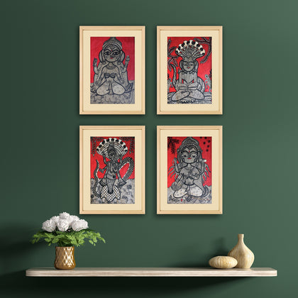 Madhubani - Untitled (Set of 4)