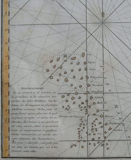 Sea Chart of Ceylon, Malabar and Coromandel Coasts