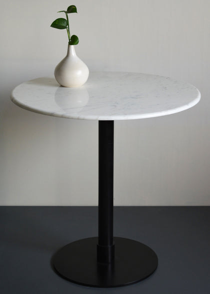 Marble and Metal Bistro Table