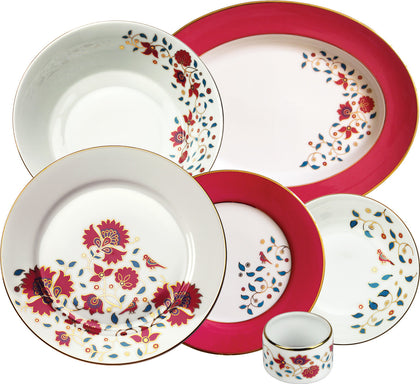 The Mughal Garden 27 Piece Dinner Set,Nishita Fine Dinnerware, - Artisera