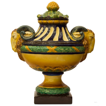 Spanish Vase with Ram Heads,[product_collection],Navrathan's Antique Art, - Artisera