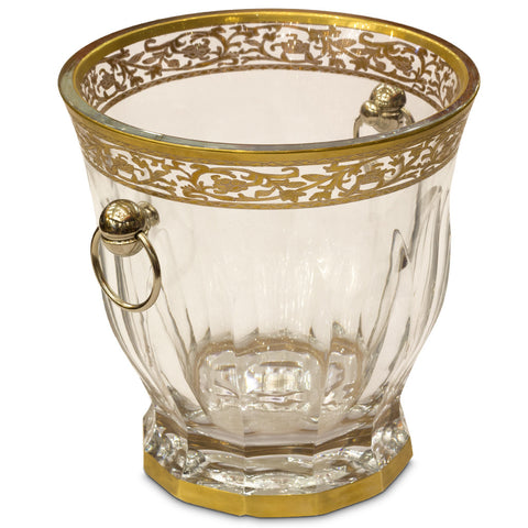 Slovenian Crystal Ice Bucket,Navrathan's Antique Art, - Artisera