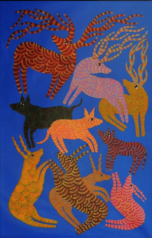 Gond - Untitled 47,[product_collection],Must Art,Narmada Prasad Tekam - Artisera