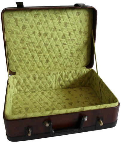 Old Style Trunk with Lime Green Lining