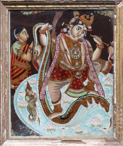 Krishna Quells the Serpent Kaliya