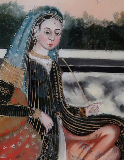 Lady Smoking a Huqqa