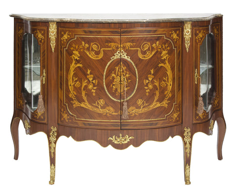 Sideboard with Floral Patterns