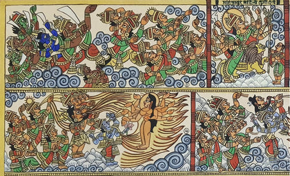 Phad 30 - Ma Durga and Mahishasura