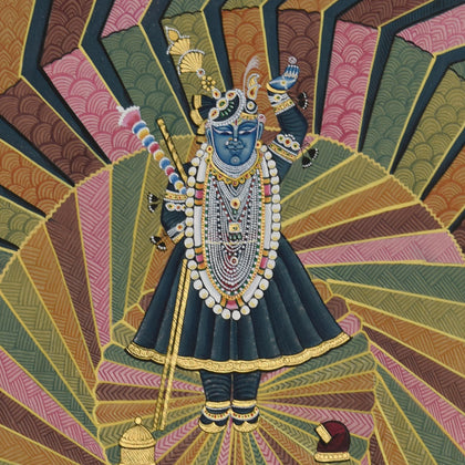 Shrinathji With Peacocks - I