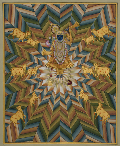 Shrinathji with Cows - X