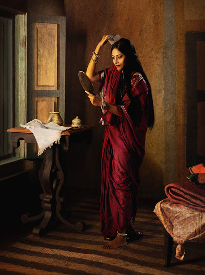 Lady with the Mirror Combing Her Hair (Saloni Puri), 2009