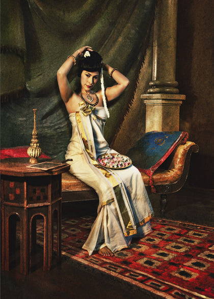 Nair Lady Arranging Jasmine in Her Hair (Feroze Gujral), 2009,[product_collection],Tasveer,Rohit Chawla - Artisera