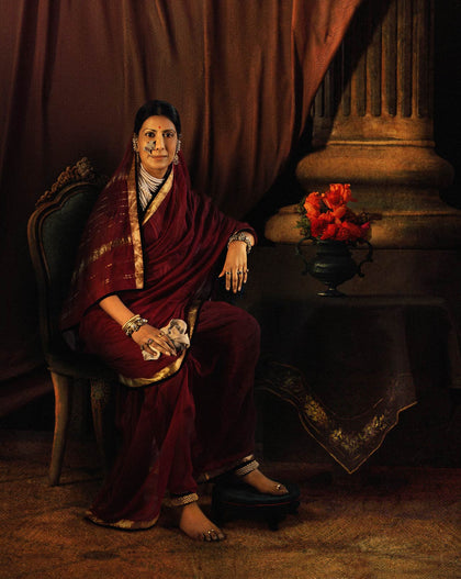Portrait of Chimnabai I of Baroda (Sailaja Tahilani), 2009