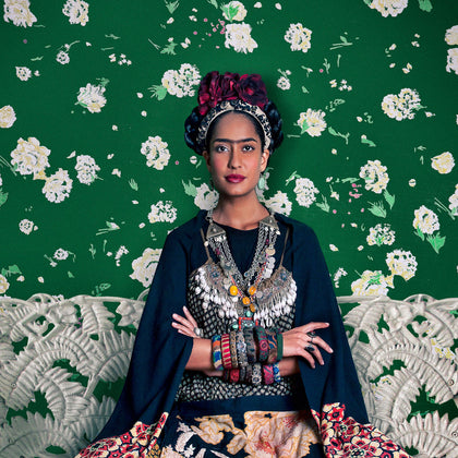 Frida on White Bench (Lisa Haydon), 2012,[product_collection],Tasveer,Rohit Chawla - Artisera