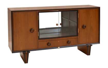 Art Deco Sideboard with Glass Cabinet