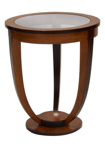 Art Deco Glass Top Tall Table