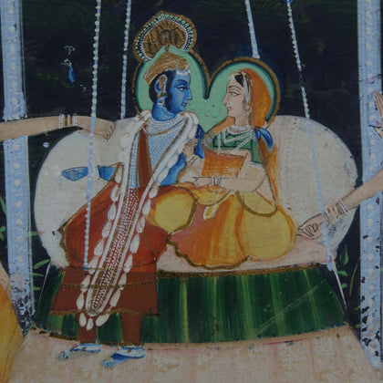 Radha and Krishna on Swing