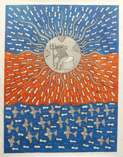 Gond - Untitled 19,[product_collection],Must Art,Suresh Kumar Dhurve - Artisera
