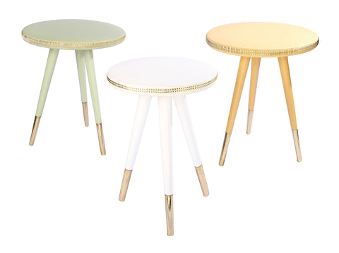 Sequin Tables Trio (White, Green, Yellow)