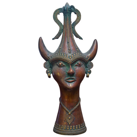Tribal Head with Crown,Crafters, - Artisera