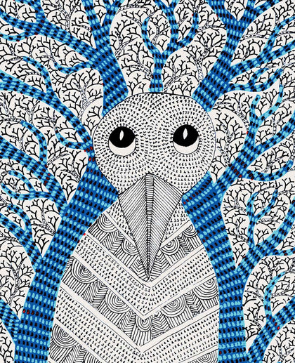 Gond - The Owl, A Great Ruler With Its Subjects