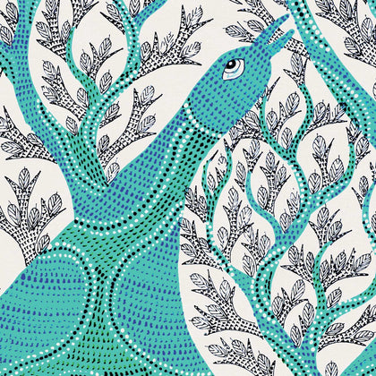 Gond - The Peacock and the Tree