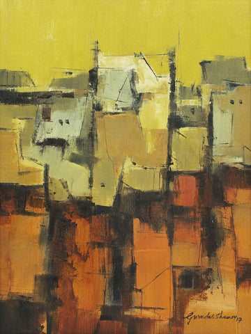 Urban Impressions - III,[product_collection],Artisera Paintings,Gurudas Shenoy - Artisera