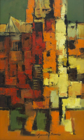 Urban Impressions - VI,[product_collection],Artisera Paintings,Gurudas Shenoy - Artisera