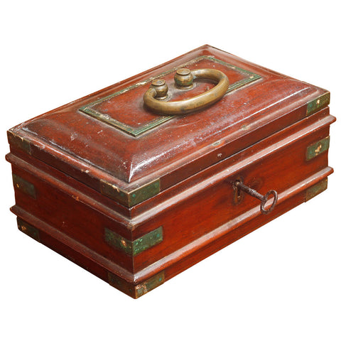 Wooden Box with Brass,Crafters, - Artisera