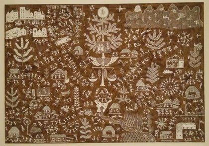 Warli - Untitled 35,[product_collection],Must Art,Anil Chaitya Vangad - Artisera