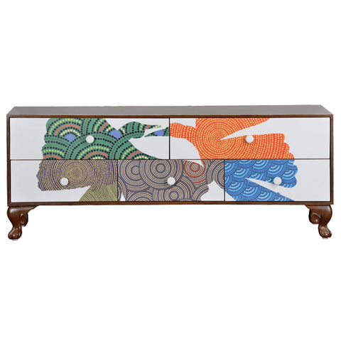 Gond Console Unit,Square Barrel, - Artisera