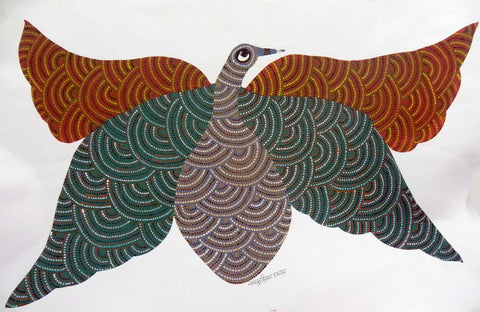 Gond - Birds With Open Wings,Must Art,Nankusiya Shyam - Artisera