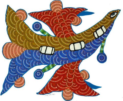 Gond - Untitled 18,[product_collection],Must Art,Nankusiya Shyam - Artisera