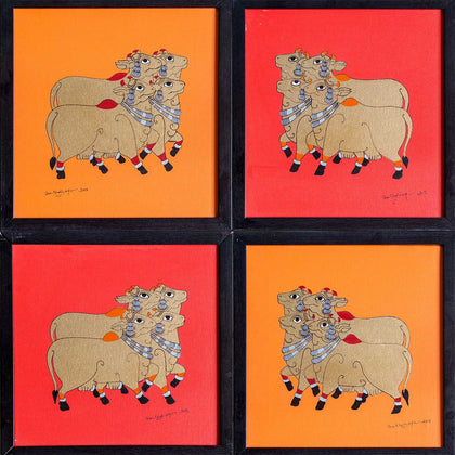 Devoted Cows,[product_collection],Pichwai S,Shan Bhatnagar - Artisera